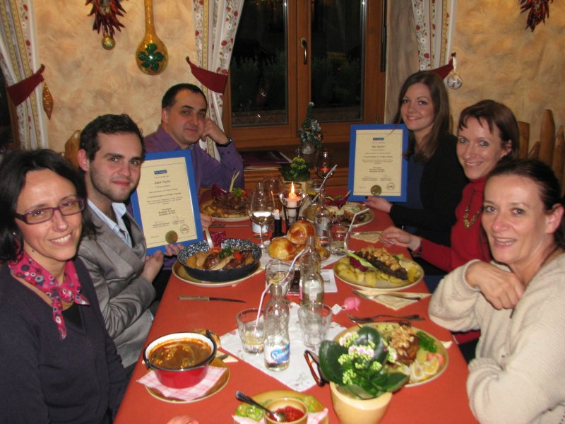 2014-11 Via Lingua TEFL course Budapest closing dinner